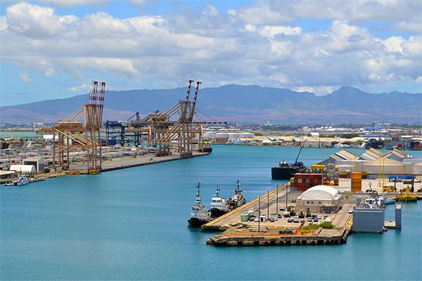 Port Of Honolulu >> Honolulu Harbor Oahu Hawaii